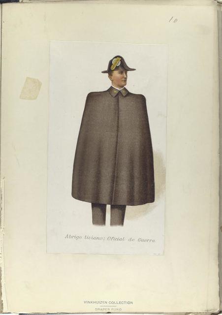 Abrigo liviano ; oficial de guerra