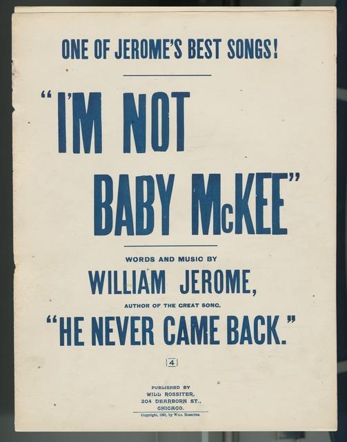 I'm not baby McKee