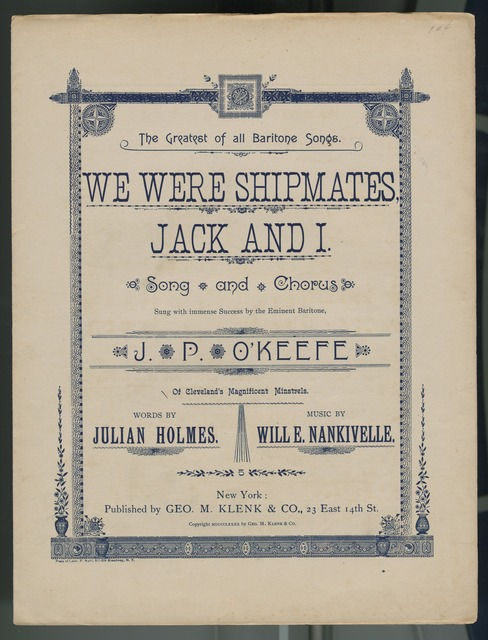We were shipmates Jack and I