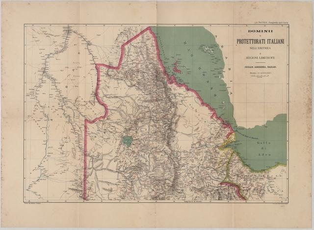 Dominii e protettorati italiani nell'eritrea e regioni limitrofe: (Sudan, Abissinia, Harar)