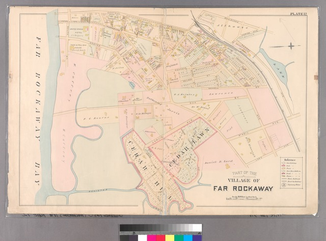 Plate 12: [Bounded by Central Avenue, Boulevard, Horton Avenue, Remsen Avenue, Mc Neil Avenue, Central Avenue, Lord Avenue, Greenwood, Jarvis Avenue, Cedar Hill Avenue, Fenwick Avenue, Somerset Avenue, Cedar Hill Avenue, Oak Street, Greenwood, Rue De. St. Felix, Coster Street and South Street.]