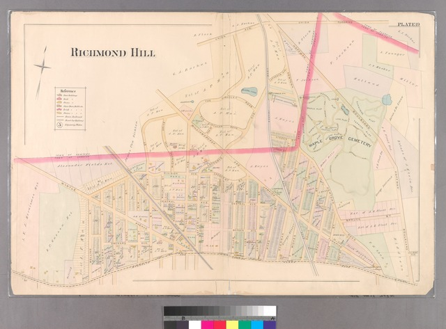 Plate 19: [Bounded by Union Avenue, Hoffman Boulevard, Brooklyn Jamaica Plank Road, Welling Street, Myrtle Avenue, Division Avenue, Oak Street, Williamsburgh and Jamaica Turnpike & Hillside Avenue.]