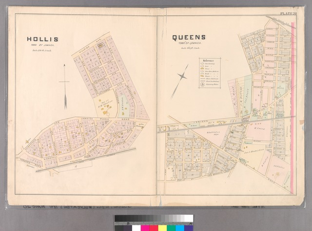 Plate 20: Hollis, Town of Jamaica. - Queens, Town of Jamaica.