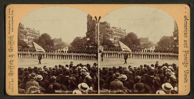 Washington, Sept. 20th, 1892, Grand Review G.A.R.