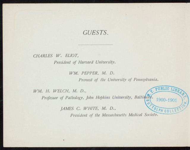 "? [held by] HARVARD MEDICAL SCHOOL ASSOCIATION [at] ""HOTEL VENDOME; [BOSTON, MASS]"" (HOTEL)"