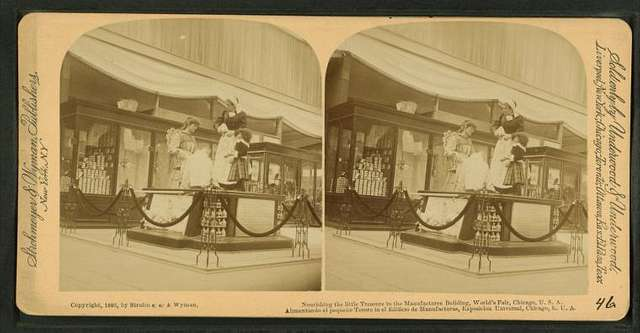 Nourishing the little treasure in the Manufactures building, World's Fair, Chicago, U.S.A.