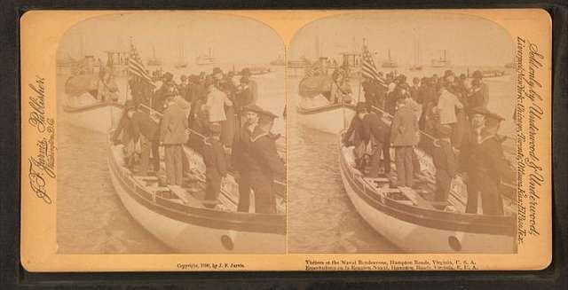 Visitors at Naval Rendezvous, Hampton Roads, Virginia, U.S.A.