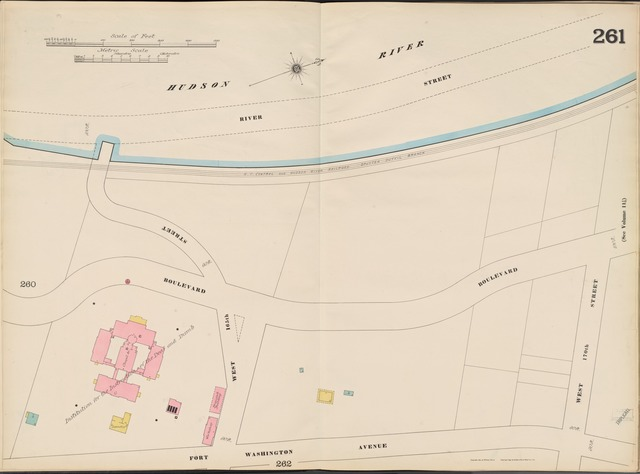 Manhattan, V. 11, Double Page Plate No. 261 [Map bounded by Hudson River, W. 170th St., Fort Washington Ave.]