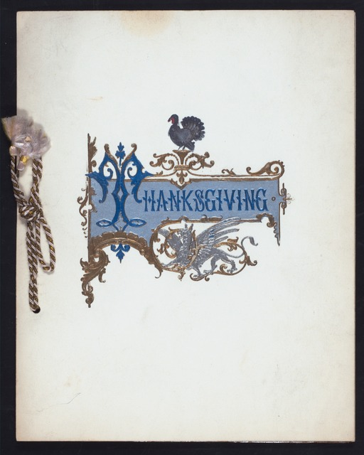 THANKSGIVING DAY DINNER [held by] HOTEL MARLBOROUGH [at] NY (HOTEL)