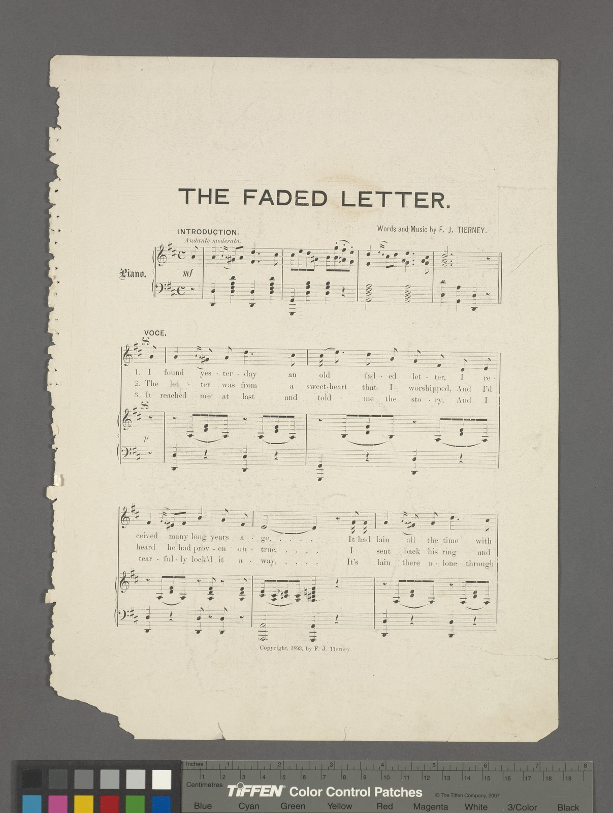 The faded letter