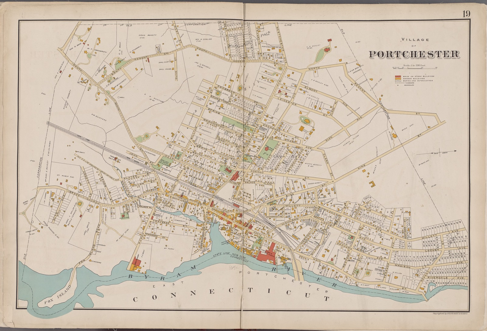 Westchester, Double Page Plate No. 19 [Map bounded by Regent St., Connecticut]