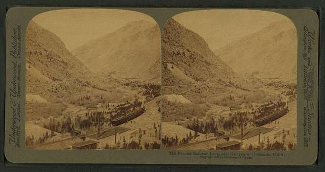 The famous railroad loop, near Georgetown, Colorado, U.S.A.