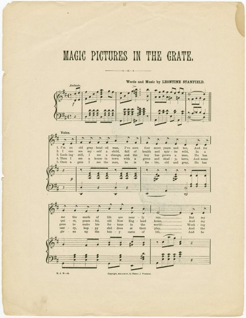Magic pictures in the grate