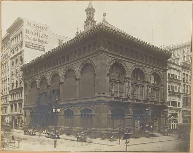 Chickering Hall (1875), Mason & Hamilton Pianos, Horace Waters Pianos
