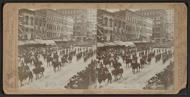 Officers of the Div. 4th of July Parade, Rochester, N.Y.