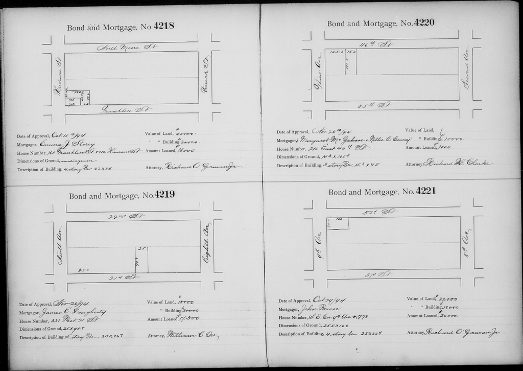 Bond and Mortgage Record Book 4 (3,700 to 4,499)