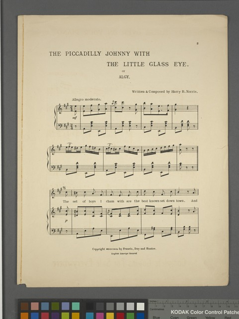 The Piccadilly Johnny with the little glass eye, or, Algy