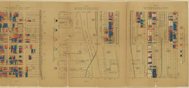 Wage map no. 1[-4], Polk Street to Twelfth, ... Chicago