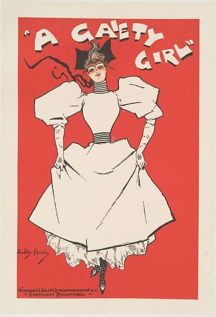 "Affiche anglaise ""A Gaiety Girl"""