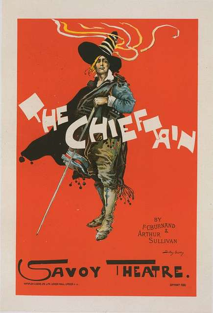 """Affiche anglaise pour Savoy Theatre, """"The Chieftain"""""""