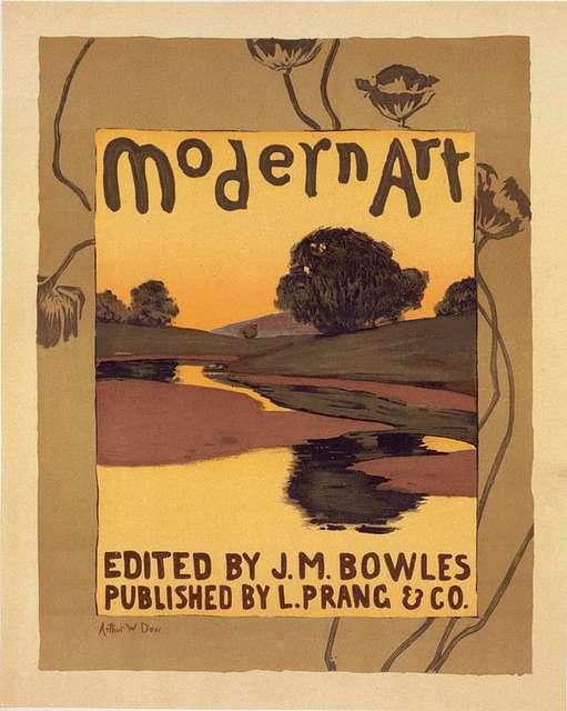 """Affiche pour la revue """"Modern Art"""", publiée à Boston."""