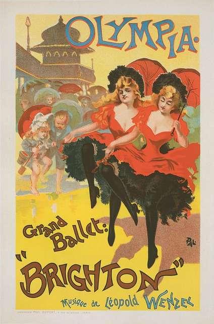 """Affiche pour le Théâtre Olympia, """"Grand ballet Brighton""""."""
