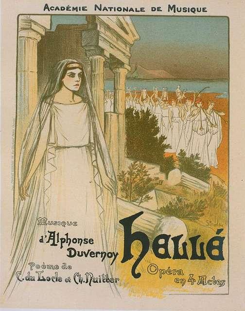 """Affiche pour l'opéra """"Hellé"""", représenté au Théâtre national de l'Opéra"""