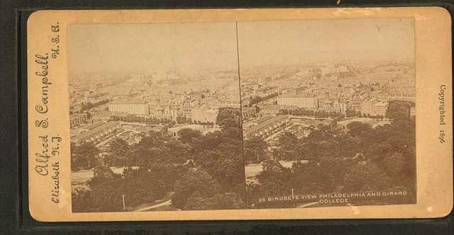Bird's-eye view: Philadelphia and Girard College.