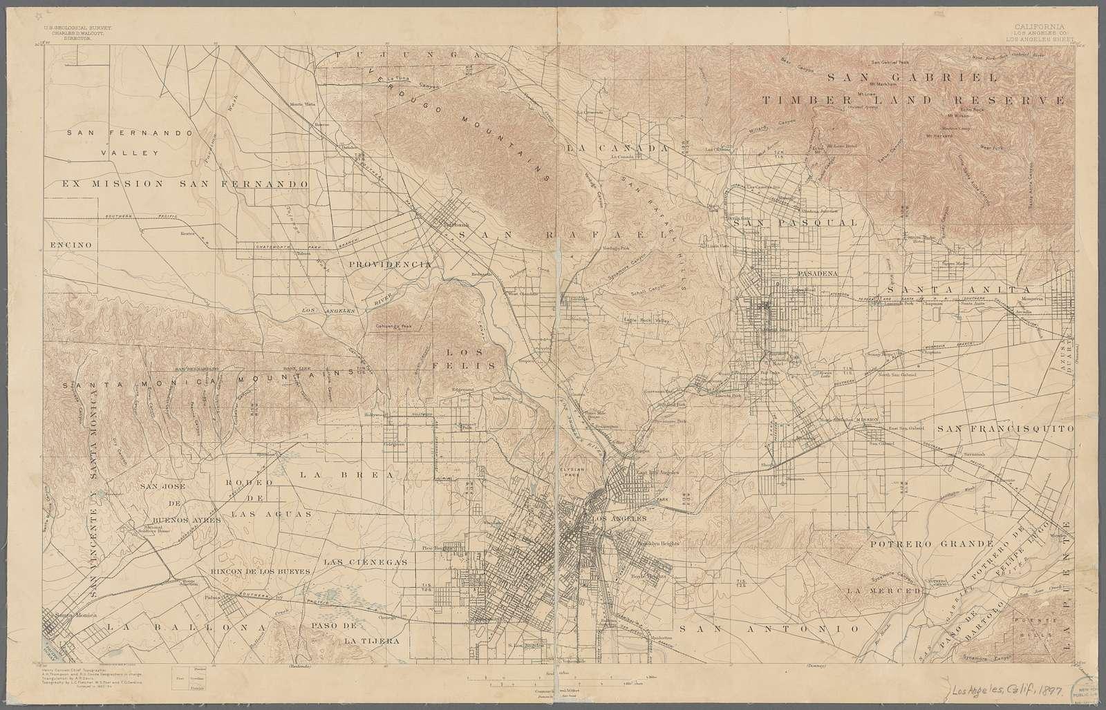 California (Los Angeles Co.) Los Angeles sheet