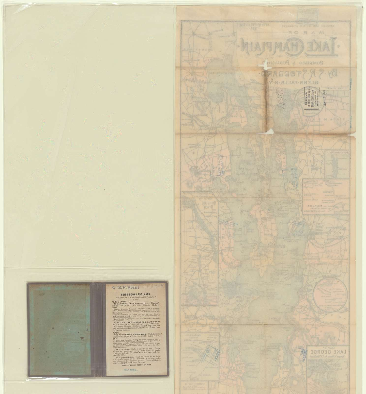 Map of Lake Champlain, Fifth revised edition