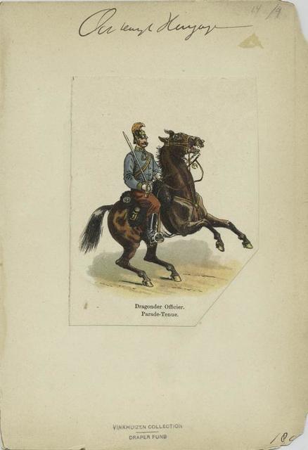 Dragoner officier : parade-tenue