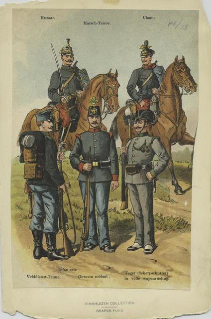 Husar; marsch-tenue; ulaan; velddienst-tenue; infanterie; gewoon soldaat; jager (scherpschutter) in volle wapenrusting
