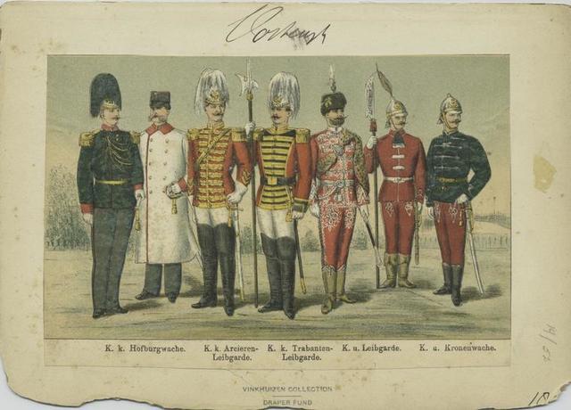 K.k. Hofburgwache; K.k. Arcieren-Leibgarde; K.k. Trabanten-Leibgarde; K.u. Leibgarde; K.u. Kronenwache