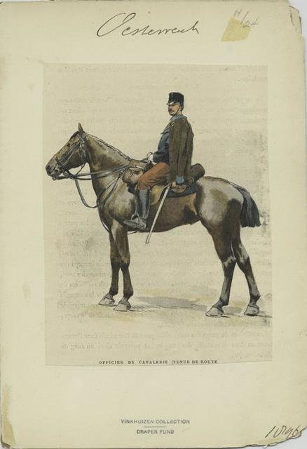 Officier de cavalerie (tenue de route[ ) ]