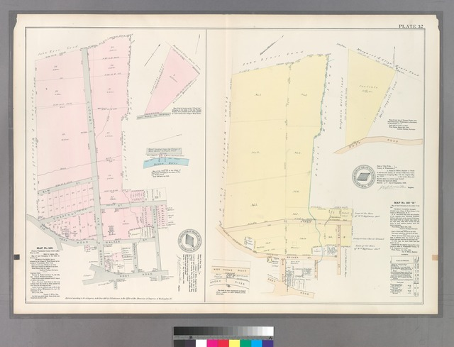 Plate 32: Map No. 160 [Bounded by Elm St., Locust Ave., Chestnut St., Centre St., Post Rd., and Old Post Rd. to Boston.] - Map No. 160 'B.'