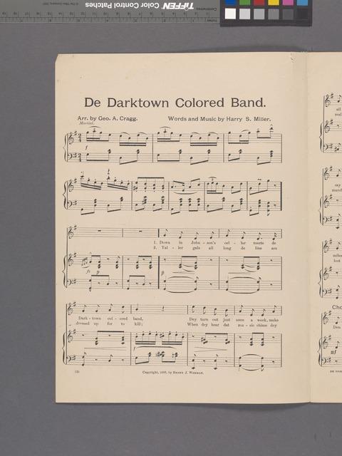 The darktown colored band
