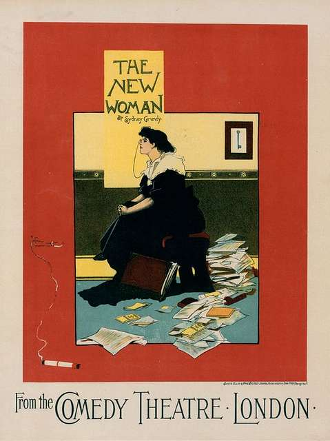 """Affiche anglaise pour le Comedy Theatre, """"The New Woman"""""""