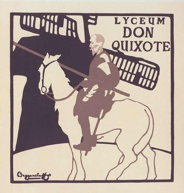 """Affiche anglaise pour le Théâtre Lyceum, """"Don Quixote"""""""