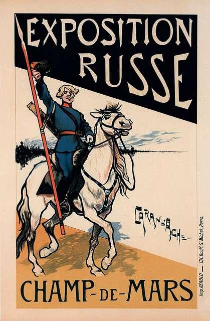 """Affiche pour l' """"Exposition Russe""""."""