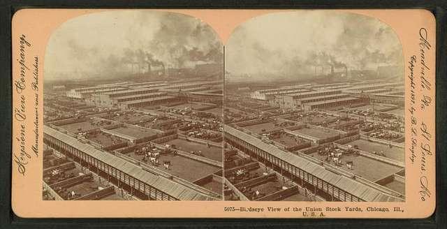 Birdseye view of the Union Stock Yards [stockyards], Chicago, Ill., U.S.A.