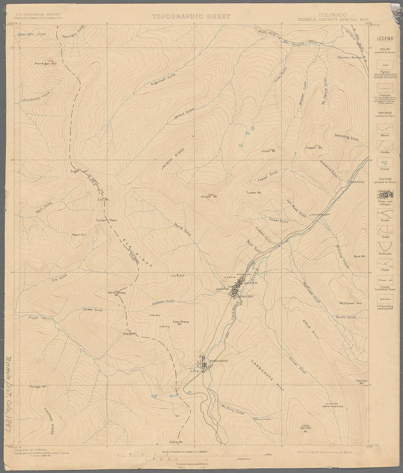 Colorado, Tenmile District special map