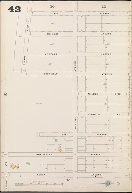 Bronx, V. B, Plate No. 43 [Map bounded by Jones Ave., Seton Ave., Nelson Ave.]