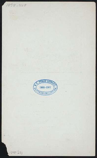 "CONEY ISLAND DINNER [held by] CLUB XIII [at] ""VAN BUREN'S HOTEL; CONEY ISLAND, NY"" (HOTEL;)"