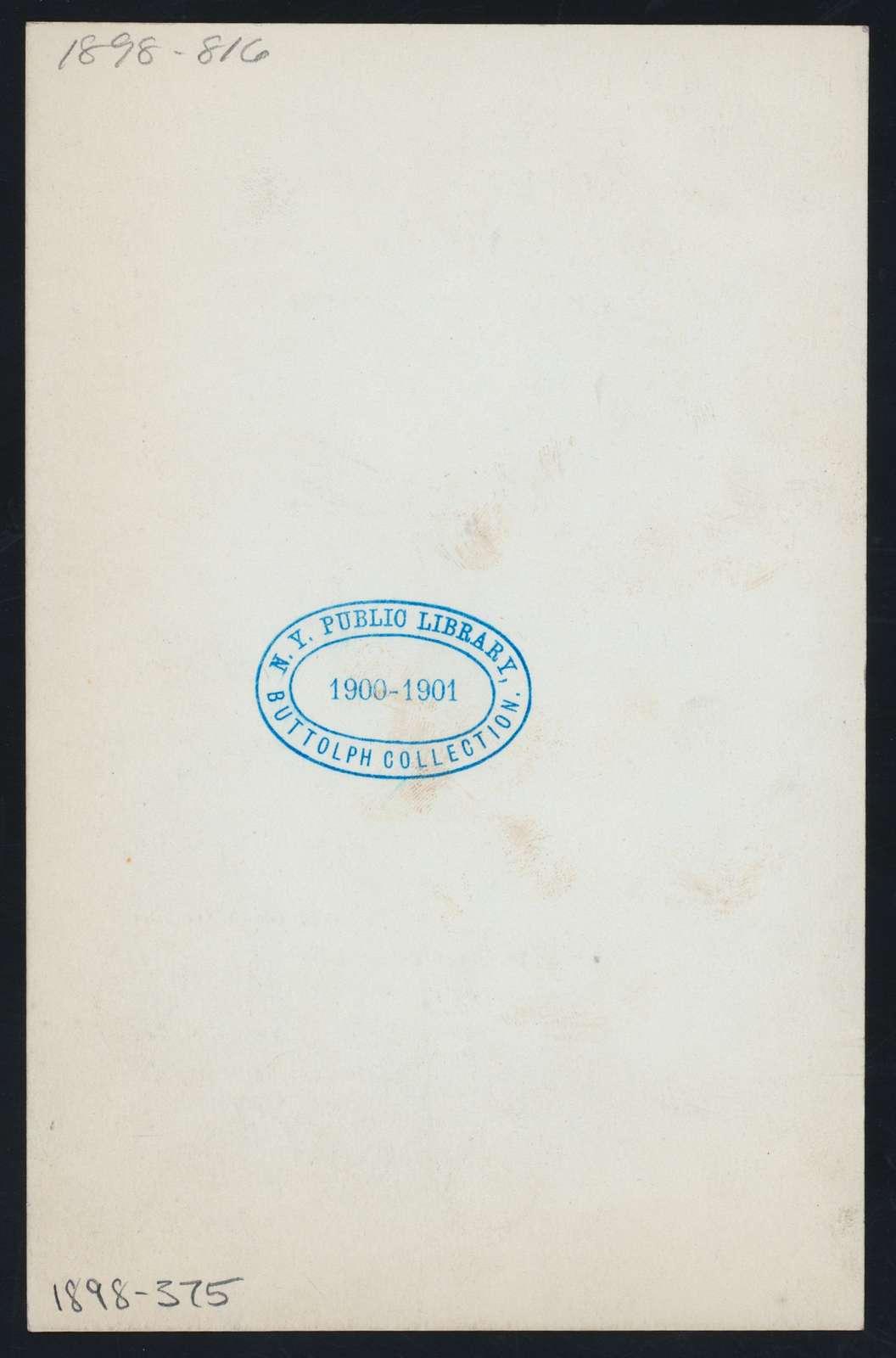 "DINNER FOR FRANK C. BONE [held by] CHRYSANTHEMUM CLUB [at] ""MANHATTAN HOTEL, NEW YORK, NY"" (HOT;)"