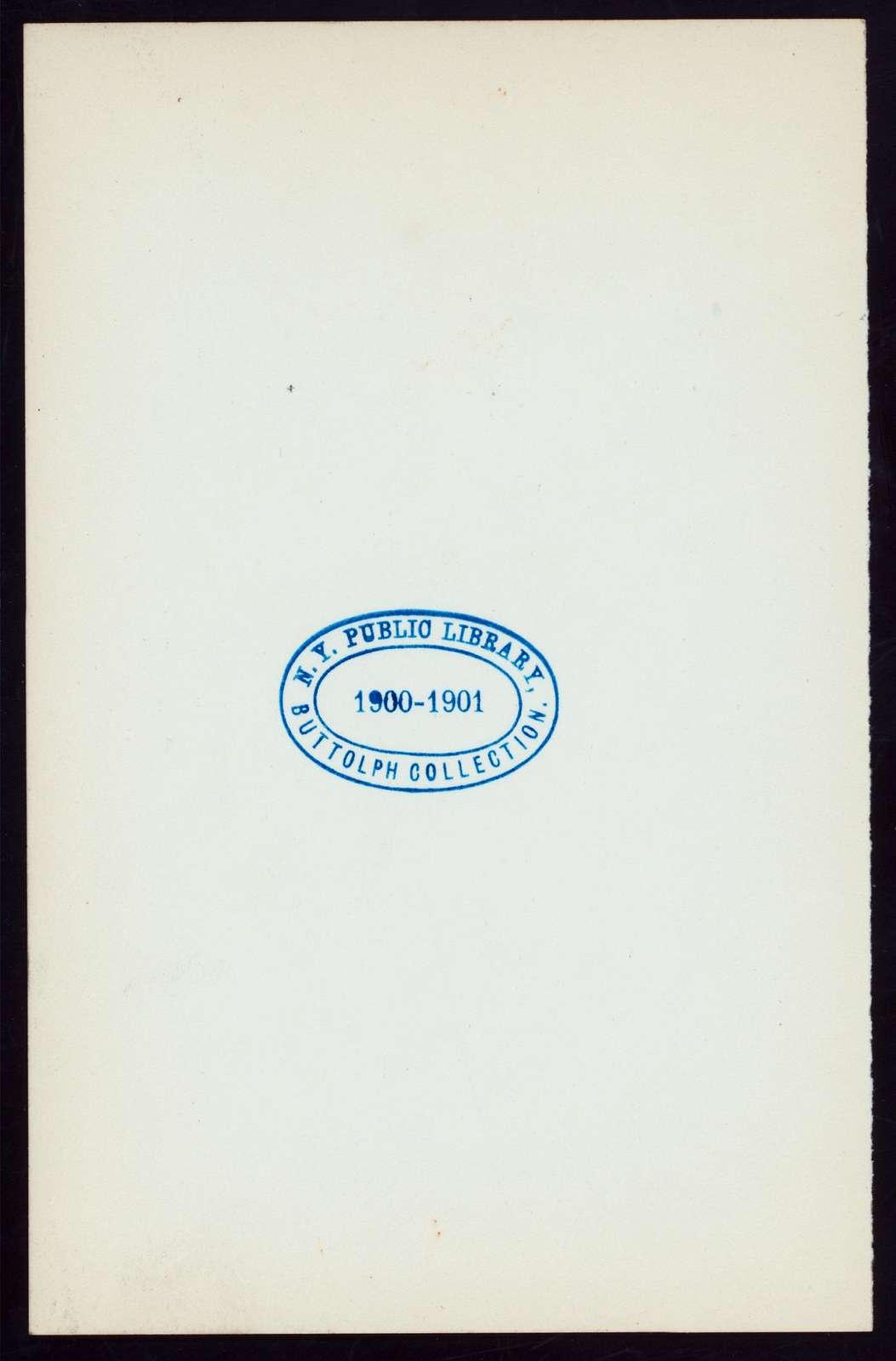 DINNER FOR MONSIEUR JULES CAMBON, AMBASSADEUR DE LA REPUBLIC FRANCAISE AUX ETATS-UNIS [held by] LA CHAMBRE DE COMMERCE FRANCAISE DE NEW YORK [at] DELMONICO'S (HOT;)