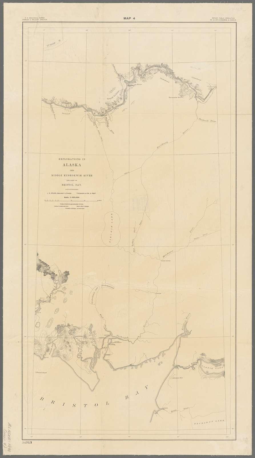 Explorations in Alaska, 1898 : Middle Kuskokwim River and part of Bristol Bay