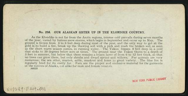 Our Alaskan sisters up in the Klondike country.