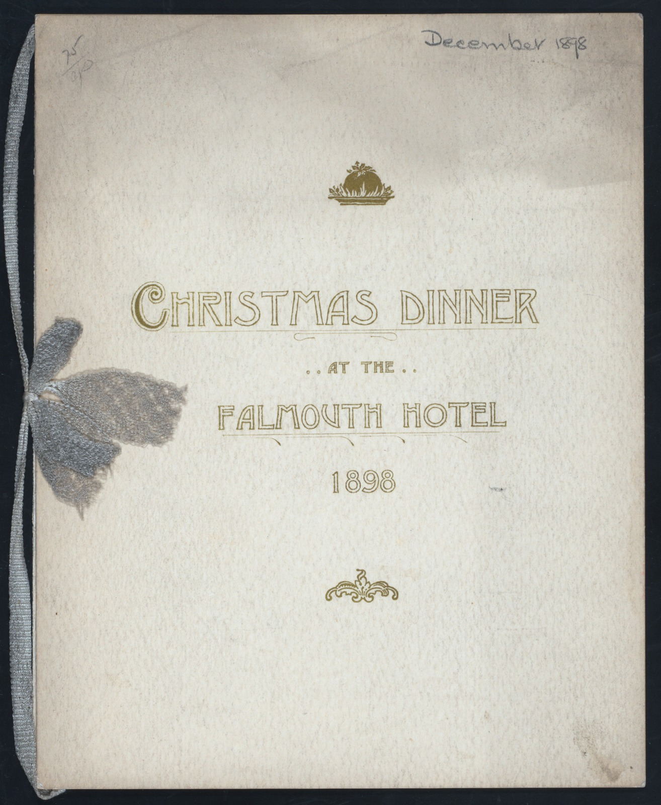 """30TH CHRISTMAS DINNER [held by] FALMOUTH HOTEL [at] """"PORTLAND, ME"""" (HOT;)"""