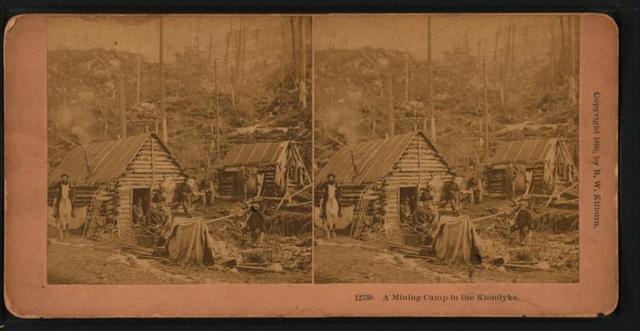 A mining camp in the Klondyke [Klondike].