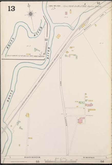 Bronx, V. A, Plate No. 13 [Map bounded by Bronx River, Westchester Turnpike]